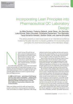 Incorporating Lean Principles into Pharma QC Lab Design - Article